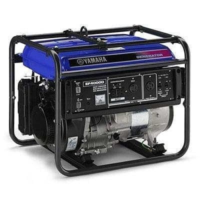 Yamaha EF4000D 4000 Watt 357cc OHV 4-stroke Gas Powered Portable Generator (CARB Compliant)