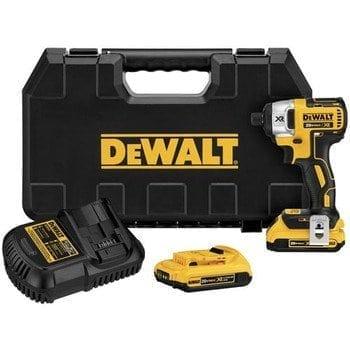 "DeWALT DCF886D2 20v Max XR Li-Ion 1/4"" Brushless Impact Driver Kit (2.0Ah Batteries)"