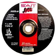"""Sait/UBI 22047 Type 27 6"""" x .045 x 7/8"""" General Purpose Wheel"""