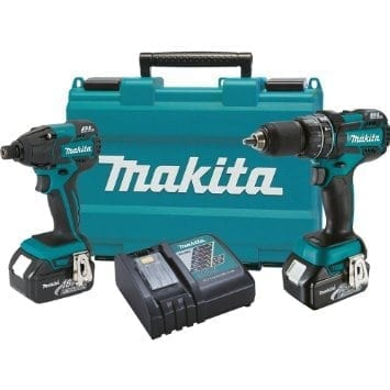 Makita XT248 LXT 18V Cordless Lithium-Ion Brushless 1/2 in. Hammer Drill and Impact Driver Kit