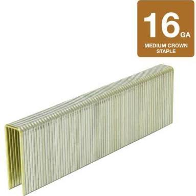 Hitachi Staple 1-1/4 in. x 1/2 in. 16 Gauge Electro-Galvanized Medium Crown Paslode Staples (10,000-Pack) 11506