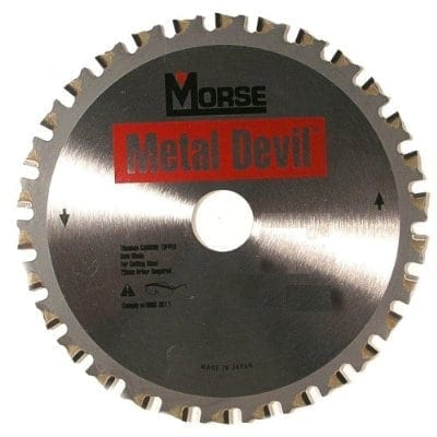 "MK Morse CSM72568NTSC Metal Devil: 7-1/4"" Circular Saw Blade 68 tooth 5/8"" Arbor for Thin Steel"