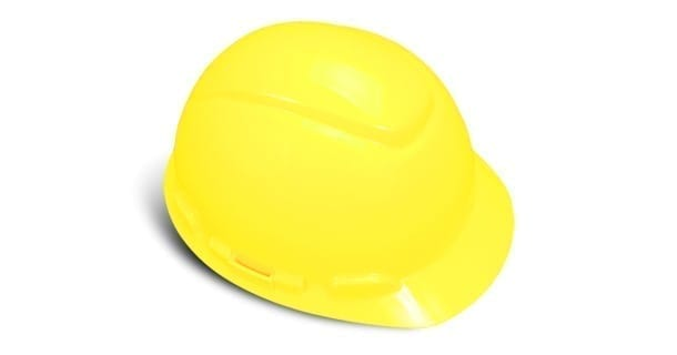 3M 64205 Hard Hat (H709-R), 4 Point Ratchet Suspension, Bright Yellow