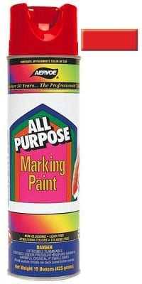 Aervoe 1381 Red All Purpose Marking Paint 20oz (15oz net)