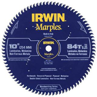 "Irwin 1807381 10"" 84T Marples Miter / Table Saw Woodworking Blade"