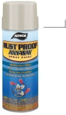 Aervoe 307 White Rust Proofing Spray Paint 16oz (12oz net)