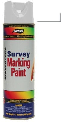 Aervoe 207 White Survey Marking Paint 20oz (17oz net)