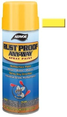 Aervoe 302 Yellow Rust Proofing Spray Paint 16oz (12oz net)