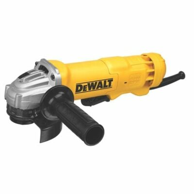 "DEWALT DWE402N 11 Amp 4-1/2"" Small Angle Grinder with Paddle Switch, No Lock-On"