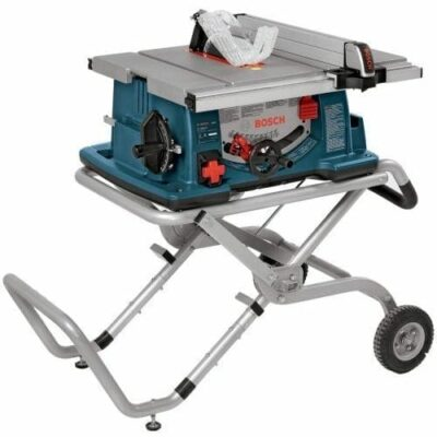 "Bosch 4100-09 10"" Worksite Table Saw with Gravity-Rise Wheeled Stand"