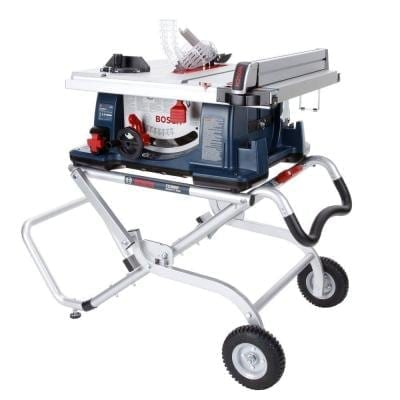 Bosch 4100 09 10u2033 Worksite Table Saw With Gravity Rise Wheeled Stand