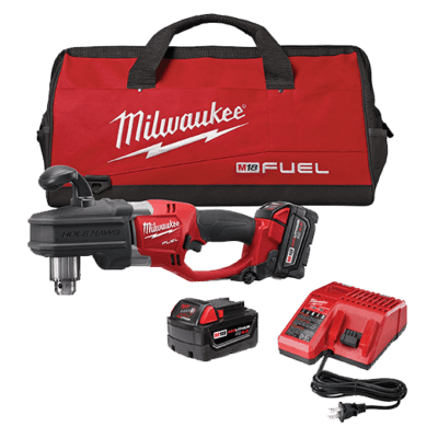 "Milwaukee 2707-22 M18 FUEL™ SUPER HAWG™ 1/2"" Right Angle Drill Kit"