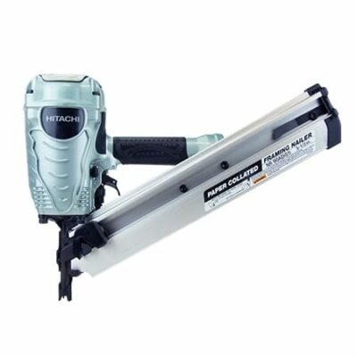 "The NR90AD(S1) framing nailer drives paper collated nails from 2"" up to 3-1/2"" in length and features Hitachi's next generation ""industrial design."" The redesigned head guard allows for faster and easier disassembly process, saving valuable time during to"
