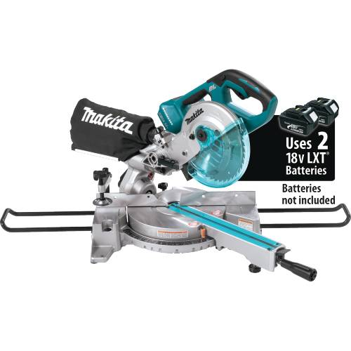 """Makita XSL02Z 18V X2 LXT® Lithium-Ion (36V) Brushless Cordless 7-1/2"""" Dual Slide Compound Miter Saw (Tool Only)"""
