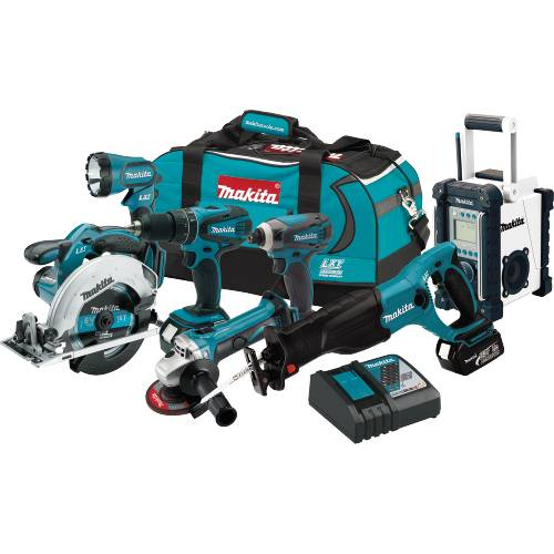 Makita XT702 18V LXT Lithium-Ion Cordless 7-Pc. Combo Kit