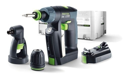 "Festool 564535 CXS 10.8V 2.6ah Cordless Lithium-Ion 3/8"" Right Angle Drill Driver Kit"