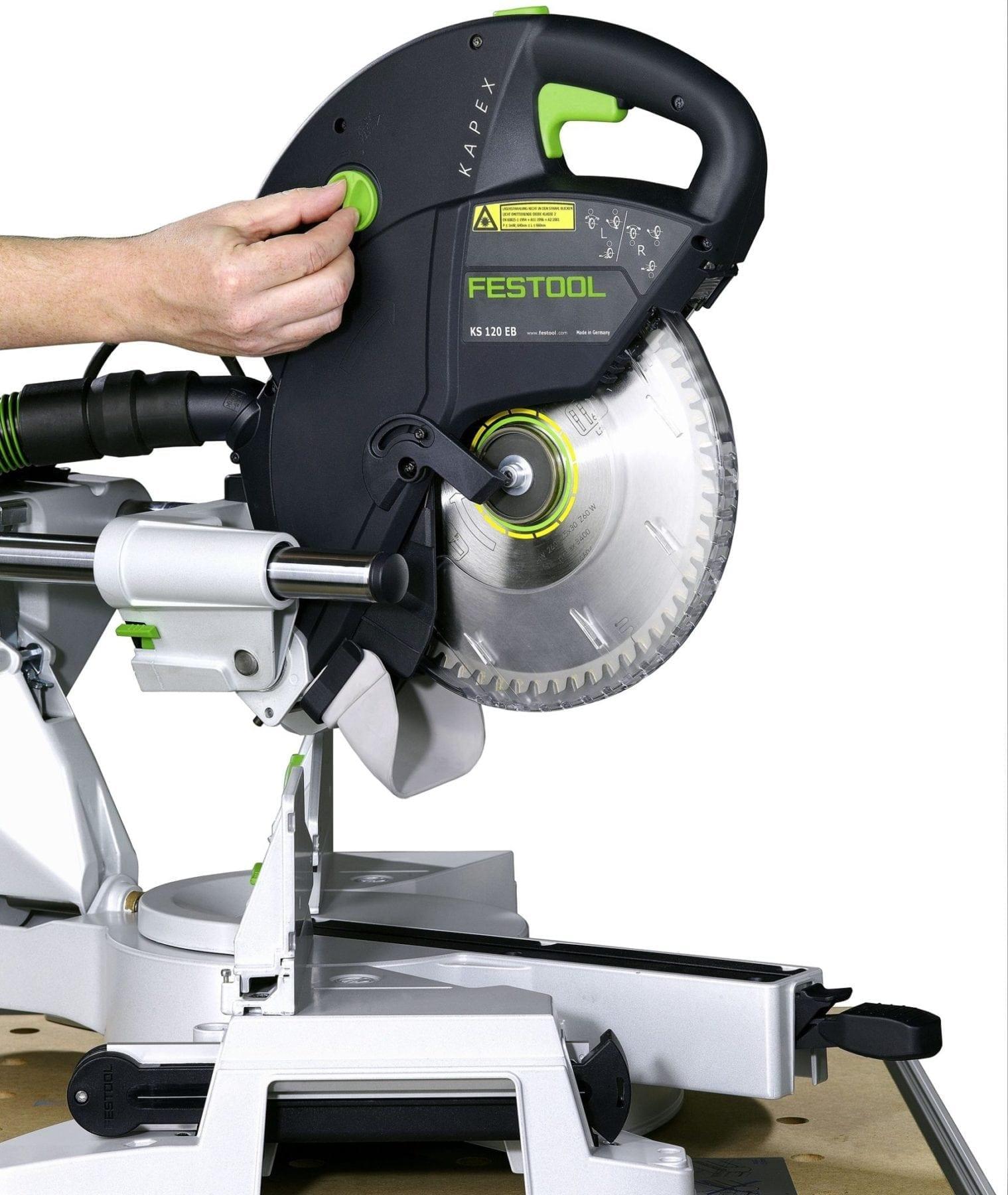 festool 561287 kapex ks 120 sliding compound miter saw tool authority. Black Bedroom Furniture Sets. Home Design Ideas