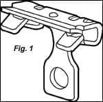 "Caddy 4H912 Hammer On Flange Clip 9/16""-3/4"" 1"