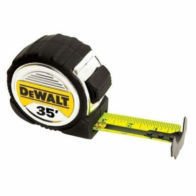 "DeWALT DWHT33387L 1-1/4"" x 35' Foot Short Tape can hold up a 13-Foot Stand Out"