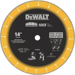 "DeWALT DW8500 14"" x 1"" Diamond Edge Chop Saw Blade"