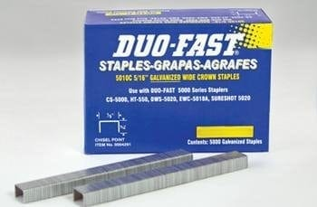 "Duo-Fast 0004291 5010C 20 Gauge 1/2"" Standard Crown Staples 5/16"" Length"