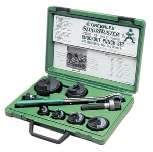 "Greenlee 7238SB 1/2"" - 2"" Conduit Size Slug-Buster Knockout Punch Kit"