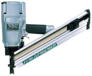 "Hitachi NR83A3  3-1/4"" Strip / Clipped-Head Nailer"
