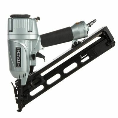 "Hitachi NT65MA4 2-1/2"" 15-Gauge Angled Finish Nailer with Air Duster"