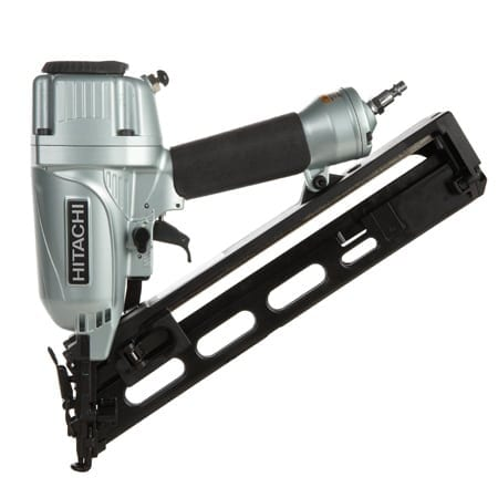 """Hitachi NT65MA4 2-1/2"""" 15-Gauge Angled Finish Nailer with Air Duster 1"""