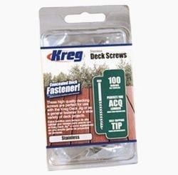 Kreg SDK-C2SS-100 2-Inch, #8 Coarse Stainless Deck Screws 100ct.