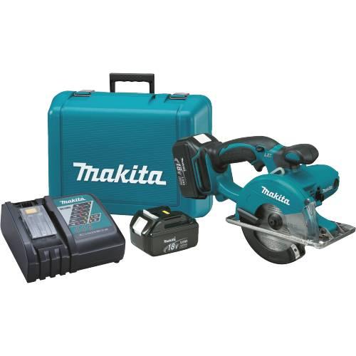"Makita BCS550 18V LXT Lithium-Ion Cordless 5-3/8"" Metal Cutting Saw Kit"