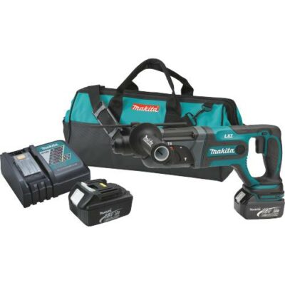 "Makita BHR241 18V LXT Lithium-Ion Cordless 7/8"" SDS-Plus Rotary Hammer Kit"