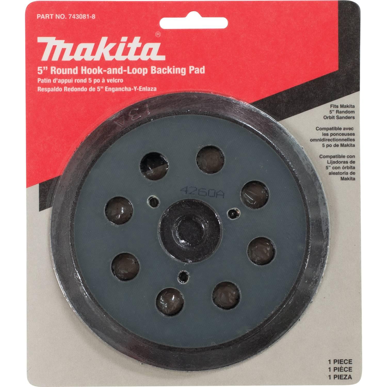 Replacement Makita Random Orbit Sander Hook /& Loop 5 Inch Pad 743081-8