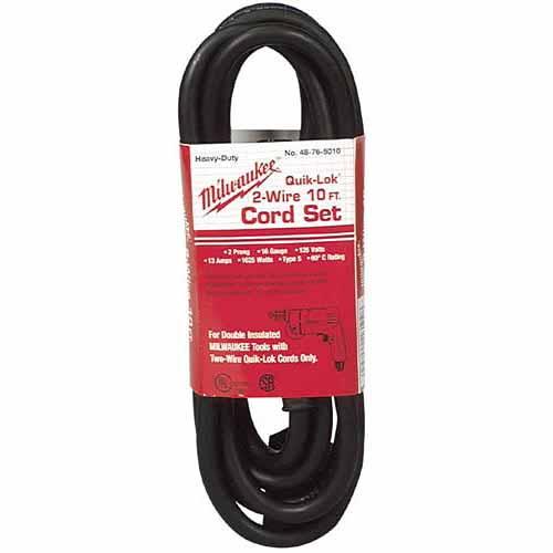 Milwaukee 48-76-5010 10 ft. Quik-Lok Cord, 2-Wire