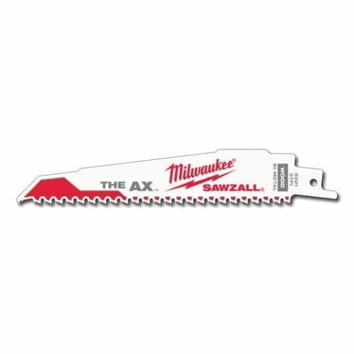 "Milwaukee 48-00-8021 Ax Super Sawzall Blade 6"" 5/8 Tooth (25 Pack)"