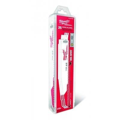 "Milwaukee 48-00-8026 Ax Super Sawzall Blade 9"" 5/8 Tooth (25 Pack)"