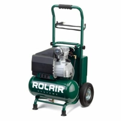 Rol-Air VT20TB 2HP Electric Compressor, Single Stage, Low Speed, 3.2 gallon