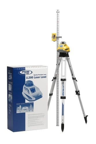 Spectra Precision LL300-2 Automatic Self Leveling Horizontal Laser Package