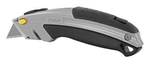Stanley Bostitch 10-788 Curved Quick-Change Utility Knife, Stainless Steel Retractable Blade, 3 Blades
