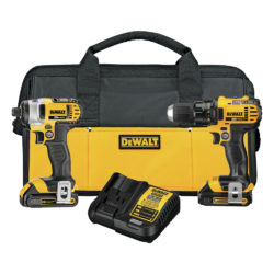 DeWALT DCK280C2 20V MAX Lithium Ion Cordless Compact Drill/Driver / Impact Driver Combo Kit (1.5 Ah)
