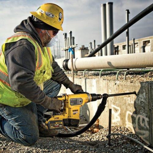 DeWALT DCH481X2 Combination Hammer in action