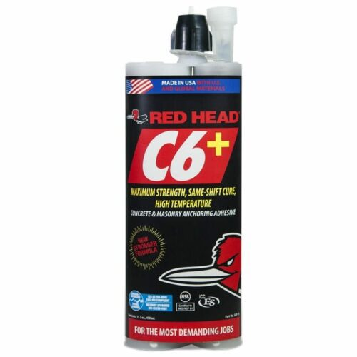 Red Head C6P-15 C6+ Anchoring Adhesive for Concrete & Masonry, 15.2 Oz.