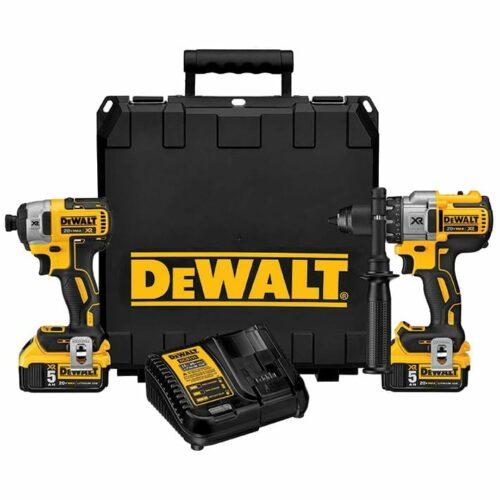 DeWALT DCK299P2 Hammerdrill & Impact Driver Combo Kit 5.0AH
