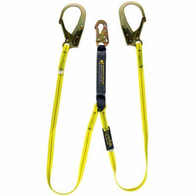 Guardian 01231 External Shock Lanyard, 6 Ft., Rebar Hooks