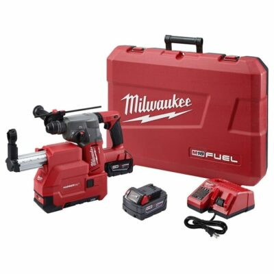 "Milwaukee 2712-22DE M18 FUEL 1"" SDS Plus Rotary Hammer w/ Dust Extractor Kit"