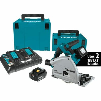 "Makita XPS01PTJ 18V X2 LXT® Lithium‑Ion (36V) Brushless Cordless 6‑1/2"" Plunge Circular Saw Kit (5.0Ah)"