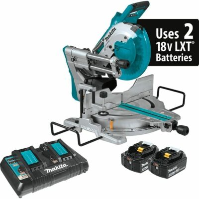"Makita XSL06PT 18V X2 LXT® Lithium‑Ion (36V) Brushless Cordless 10"" Dual‑Bevel Sliding Compound Miter Saw with Laser Kit (5.0Ah)"