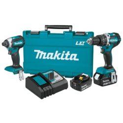 Makita XT269M 18V LXT® Lithium‑Ion Brushless Cordless Hammer Drill/Impact Driver Combo Kit (4.0Ah)