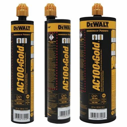 Dewalt AC100+ 10 Oz., 12 Oz., and 28 Oz. cartridges