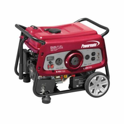 Powermate DF3500E 3,500 Watt Electric Start Dual Fuel Portable Generator